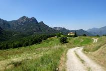 La serra de Picancel, cal Pere i els camps de Vilarrassa.