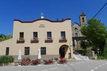 Hostal Sant Maurici de la Quar, punt d´inici de la ruta.