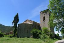 Arribem al monestir de Sant Pere de la Portella.