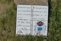 Ceràmica en memòria del gran incendi del Berguedà que es va produir l´estiu de 1994.