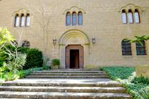 Entrada al monestir benedictí.
