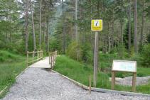 Punt d´inici del sender accessible del Cornato.