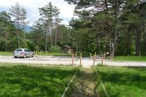 Punt d´inici i final del sender accessible del Cornato.