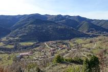 Serra de Milany i Vallfogona de Ripollès.