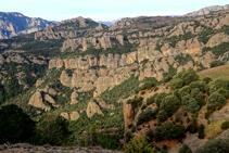 Les roques de les Encantades des de la serra Seca.