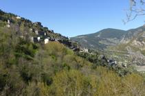 Vista d´Aixirivall des del camí de la Solana.