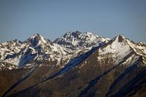 Pic de Sotllo, Pica d´Estats i Monteixo.