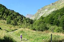 Pujant per la vall de le Gela.
