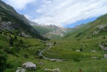 La vall d´Otal des del coll d´Otal.