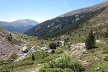 Vistes al SO de la vall de Riqüerna.