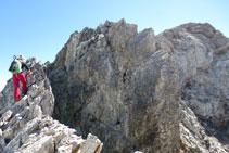 Darrera grimpada abans d'assolir el cim del Montferrat.
