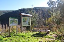 Panell informatiu del Parc Natural de l´Alt Pirineu.