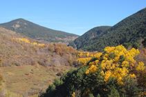 Capçalera de la vall de Siarb, amb el port del Cantó al fons.
