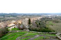 Nucli d´Hostalric des del castell (fora de ruta).