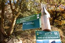 Senyal indicador al punt d´inici de la ruta.