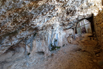 Interior de l´ermita de Sant Joanet.